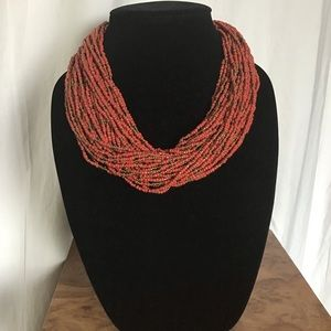 Lucky Brand Ethnic Seed Bead Crotchet Necklace